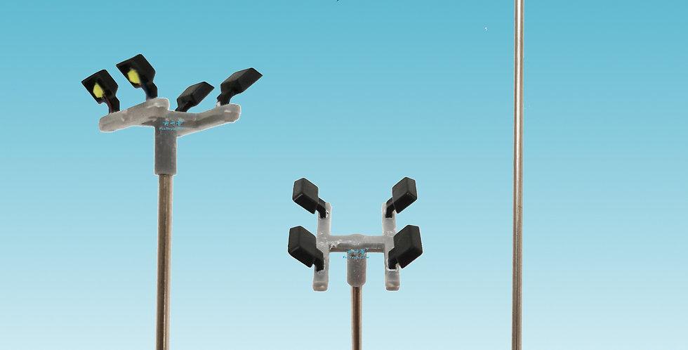 1:87 HO scale model lighting tower, model sceneary layout/landscape, railmodel,model railroader, miniatures/miniarts photo