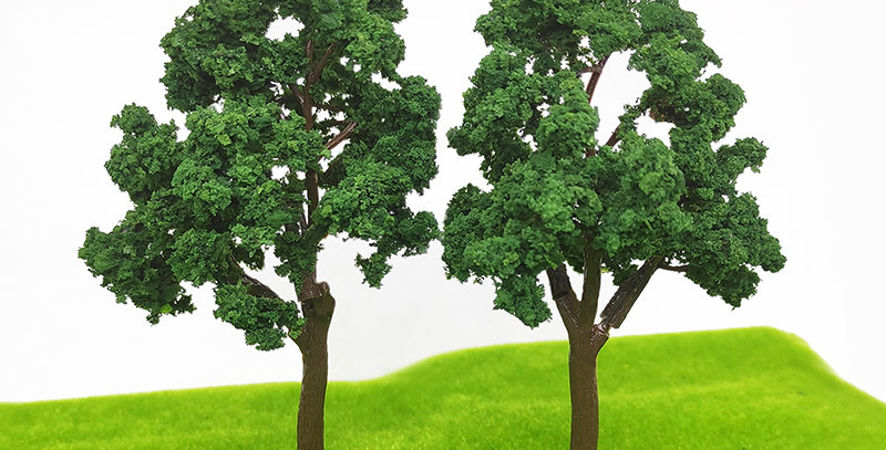 2PCS 1/87 HO Scale Model(Fruit)Trees 110mm with 18mm Pin landscape modePT1125110