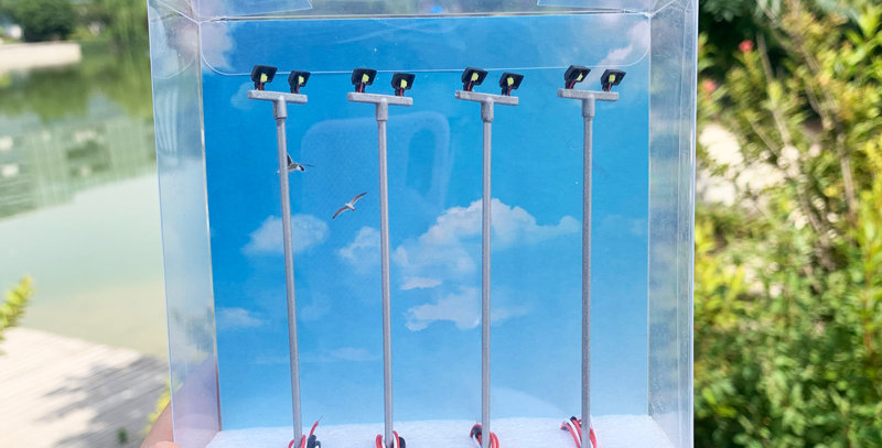 4 PCS 1:87th HO Scale model lighting tower