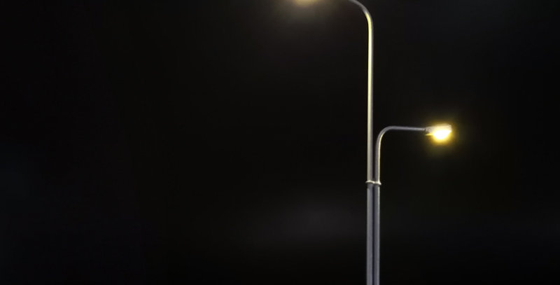 3/PK Modern Style Boulevard / Highway / Park ing Area / Street Lights L006110