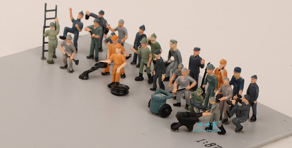 27PCS 1:87 HO Scale Model railway Workers