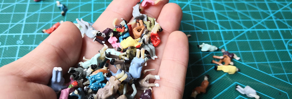 100PCS 1:87 HO Scale all Seated Figures