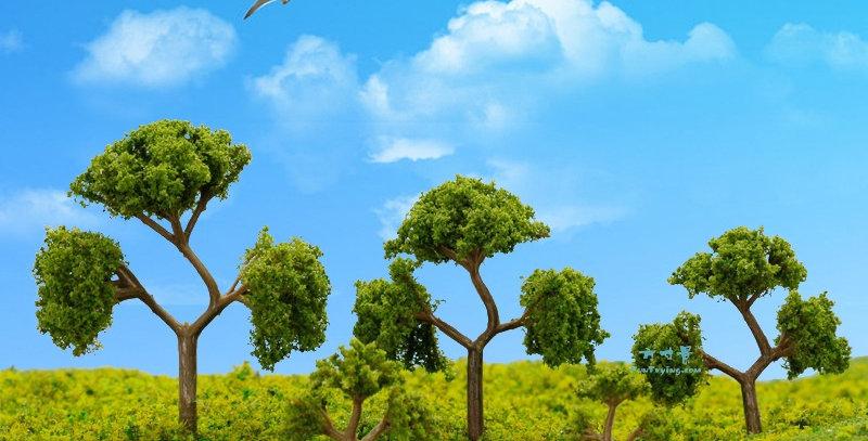 微缩仿真模型树树杆,三杈树TTR07