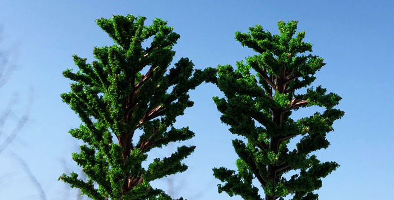 2 PCS/PACK Realistic Model Tung Trees.