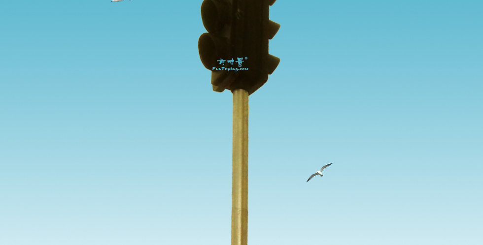 HO Scale model Operating Pole Mount Overhead Traffic Lights with Controller.model railroad/railway/train street lights
