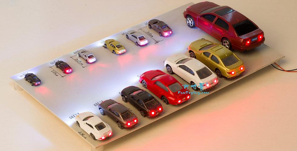 20Pcs Plastic model cars with 12V LED lights