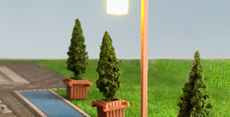 1:87 HO scale lamp, Chinese style classic Park Lamp,miniature lights LT07050W