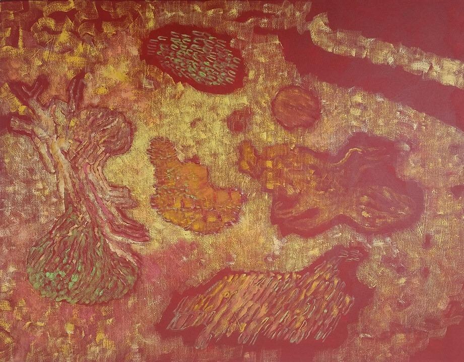 Pohutukawa and Moon by Diana Halstead