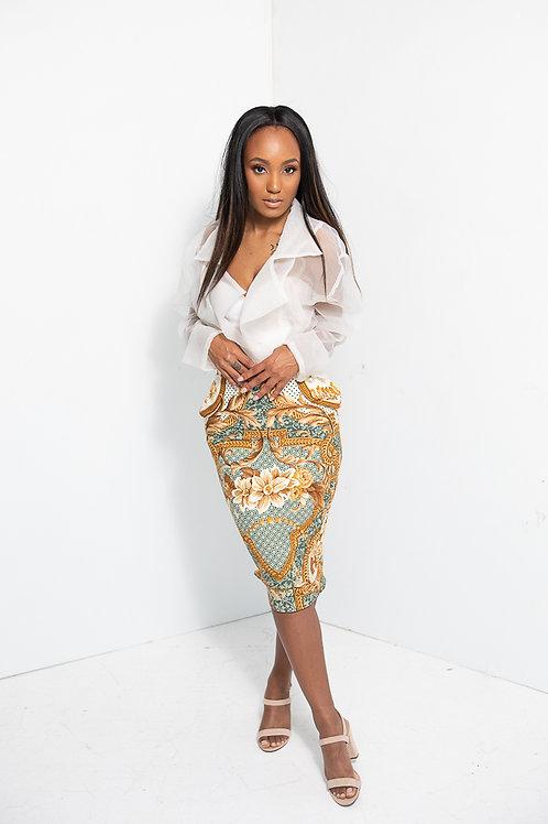 Middi Brocade Skirt