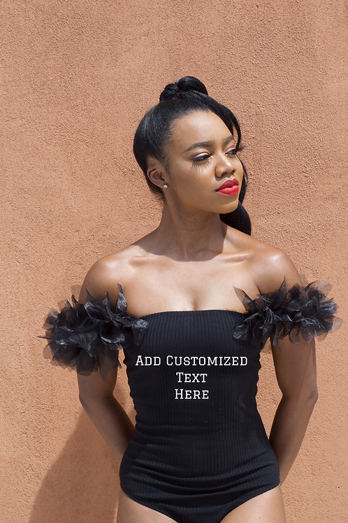 Tulle Strapped Bodysuit