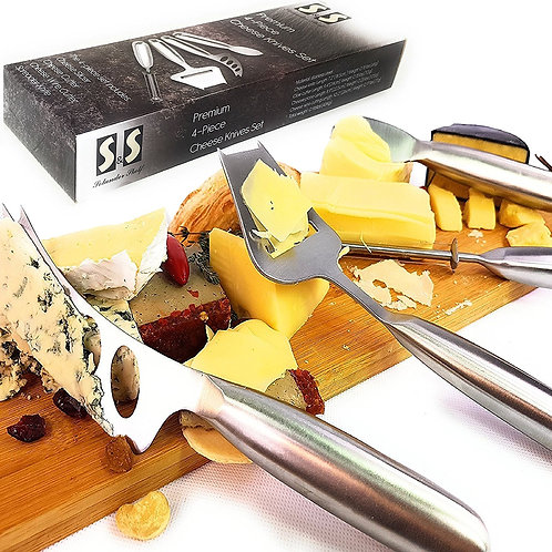 Cheese Slicer Cutter Wire Cutter Spreader Knife | Cheese Knife Set 4-Pieces