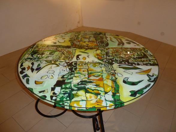 """""""Carré de Dieux"""" peinture-table"""