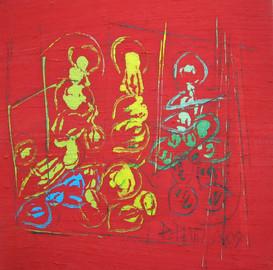 """""""Goût de Rouge III"""" triptyque 2009"""