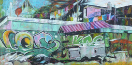 """""""Toles endulées"""" Streetart Tulum"""
