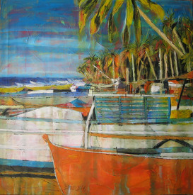 """Big orange fisherboat"""