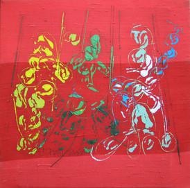 """""""Goût de Rouge II"""" triptyque 2009"""