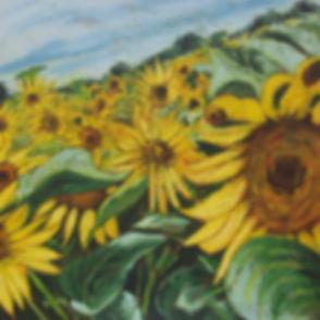 Sun flower army,huile techmique mixte su
