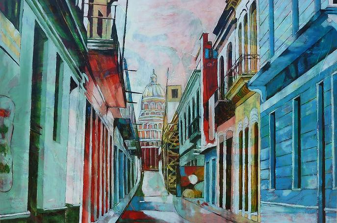 Habana Dream,97 x 146 cm,huile sur toile