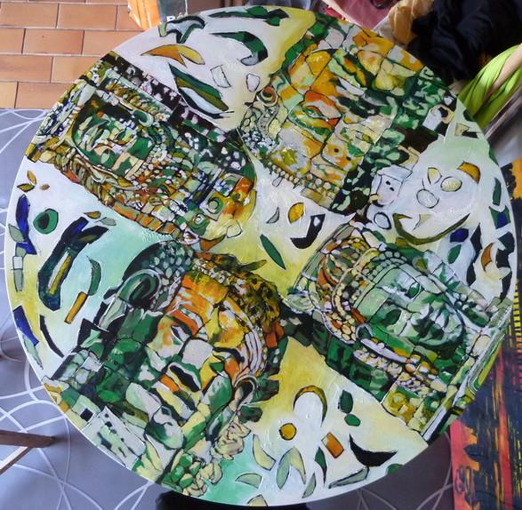 """""""Carré des Dieux"""" peinture-table"""