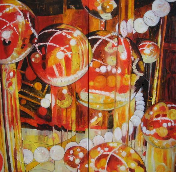 """""""Living Bubbles"""" diptyque"""