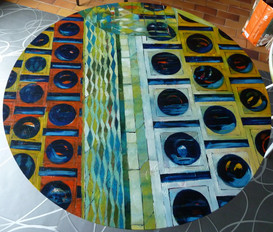 """""""Choix de planètes""""  peinture-table"""