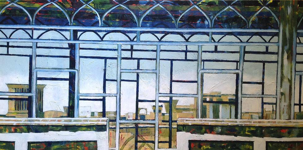 L'Absence, 80 x 160 cm, huile sur toile,