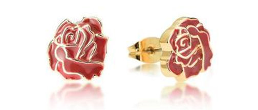 Disney Beauty and the Beast Enchanted Rose earrings