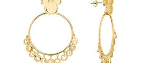 14 yellow gold plated Disney Mickey Mouse Hoop Earrings