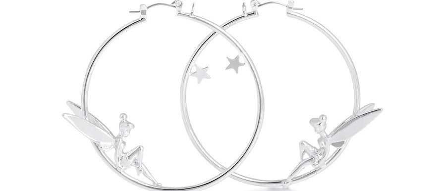 Disney Tinkerbell hoop earrings - All you need is faith, trust & pixie dust