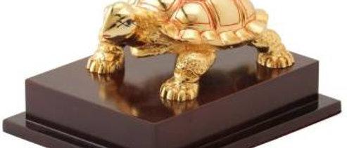 Gold Tortoise with Base Medium