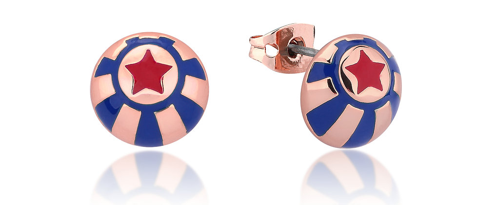 Disney Dumbo Rose Gold Plated Circus Ball Stud Earrings