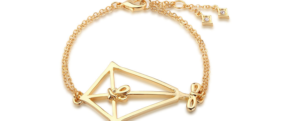 14ct Yellow Gold plated Disney Mary Poppins Kite Bracelet