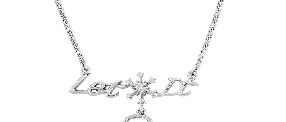 14ct gold plated Disney Frozen 'Let it Go' necklace