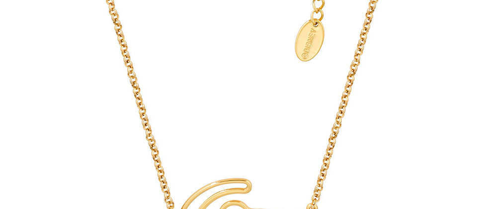 Yellow Gold Plated Lion King Simba outline necklace