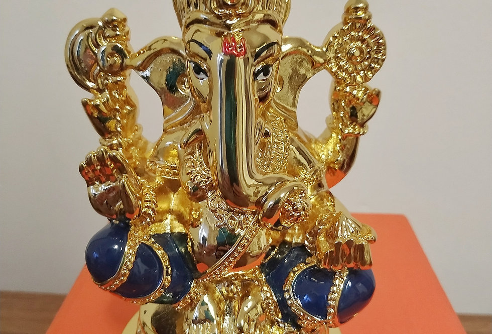 24kt Gold Plated Gaurisutra Ganesha Idol