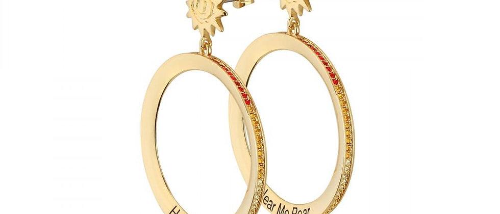 Disney The Lion King Savanna Sunset Hoop Earrings