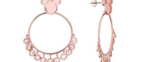 14ct rose gold plated Mickey Mouse Hoop Earrings