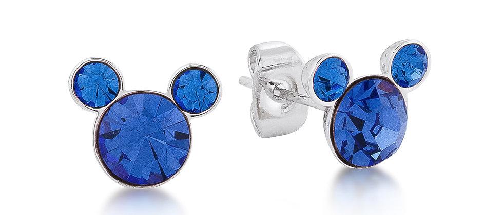 14ct gold plated Disney Mickey September Birthstone Stud Earrings