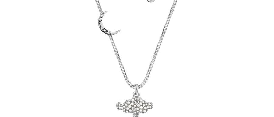 White gold plated Aladdin Genie Lamp Necklace