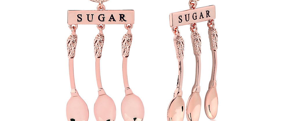 14ct rose gold plated Disney Mary Poppins 'A Spoonful of Sugar' earrings