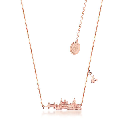 14ct rose gold plated Disney Mary Poppins Cherry Tree Lane Necklace