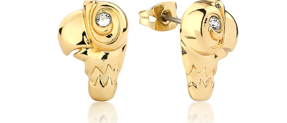 14ct  Yellow gold plated Disney Mary Poppins parrot stud earrings