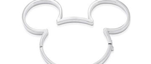 Disney Mickey Mouse white gold plated outline bangle