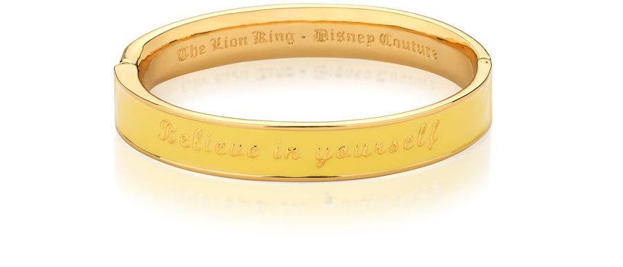 14ct gold plated Disney The Lion King Yellow Enamel Bangle