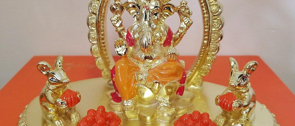 24kt gold plated Arch Ganesha Idol