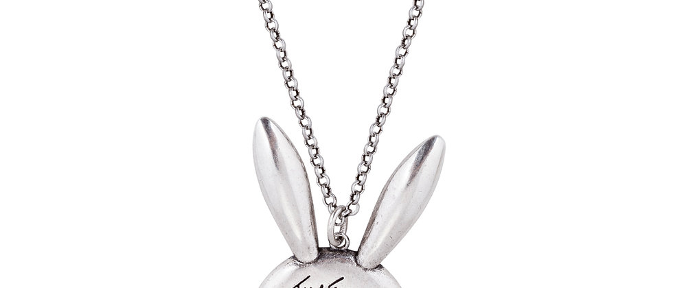 Disney Alice in Wonderland White Rabbit Necklace