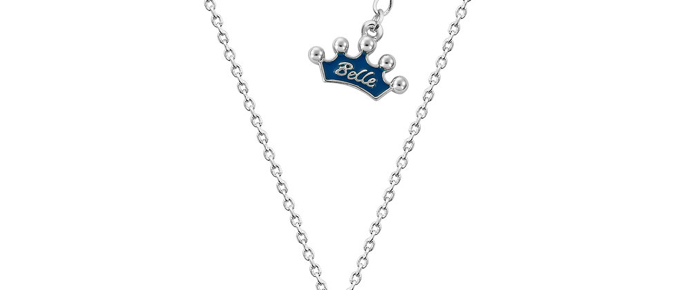 14ct White Gold Plated Disney Beauty and the Beast Mrs. Potts Necklace