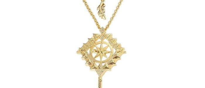 14ct yellow gold plated Disney Pocahontas Key Necklace
