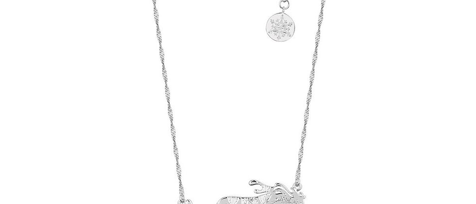 14ct white gold plated Disney Frozen 2 The Nokk and Gang Necklace