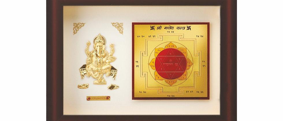 Lord Ganesha With Yantra
